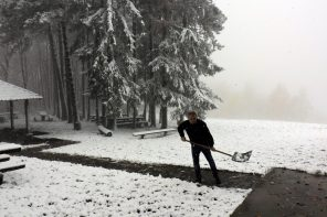 Prvi snijeg ove zime 2017.