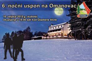 6. noćni uspon na Omanovac